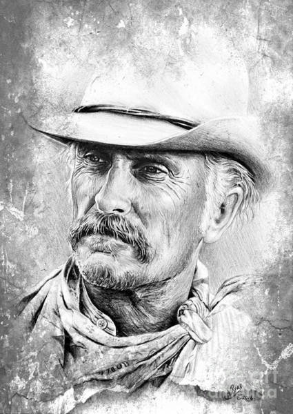 Gus Wall Art - Drawing - Captain Augustus Mccrae by Andrew Read