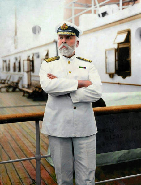 Photograph - Captain E.j. Smith. Captain Of The Rms Titanic by Doc Braham
