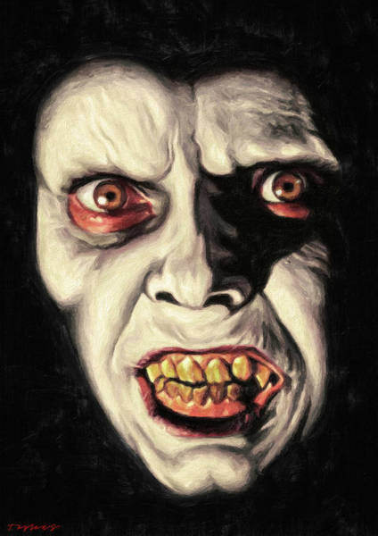 Wall Art - Painting - Captain Howdy - Pazuzu by Zapista Zapista