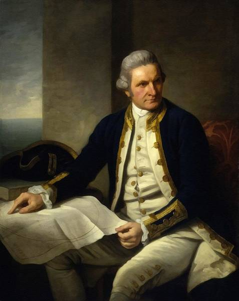 Captain Cook Digital Art - Captain James Cook After The Original Painting By Nathaniel Dance - Holland L B by Gert J Rheeders