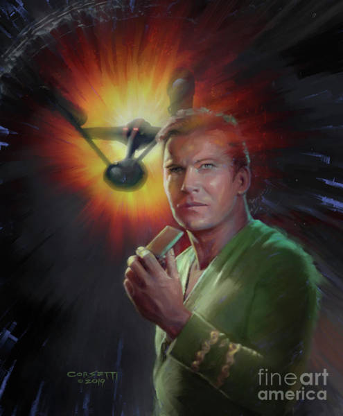 Painting - Captain James T. Kirk by Rob Corsetti