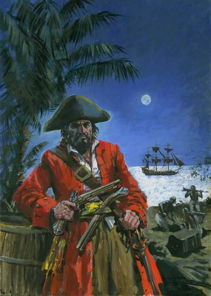 Buried Treasure Painting - Captain Kidd by Graham Coton