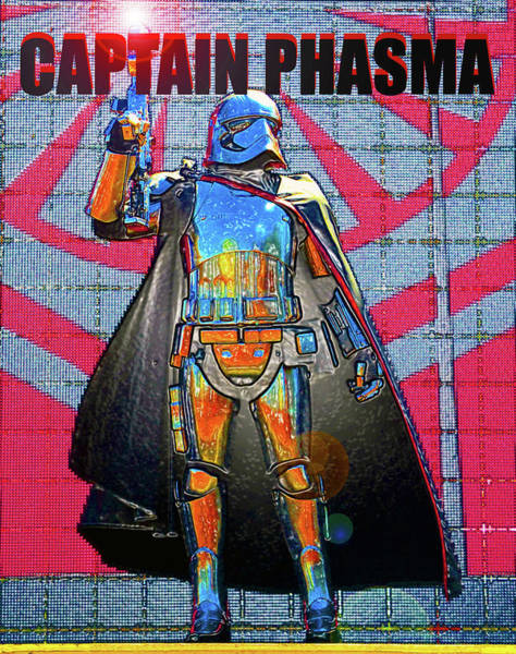 Wall Art - Digital Art - Captain Phasma Poster A by David Lee Thompson
