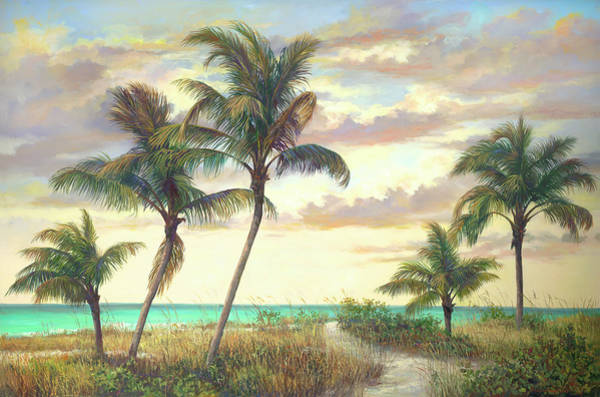 Sea Oats Painting - Captivating by Laurie Snow Hein