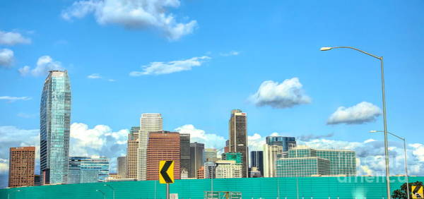 Wall Art - Photograph - Capture From Freeway Los Angeles Downtown  by Chuck Kuhn