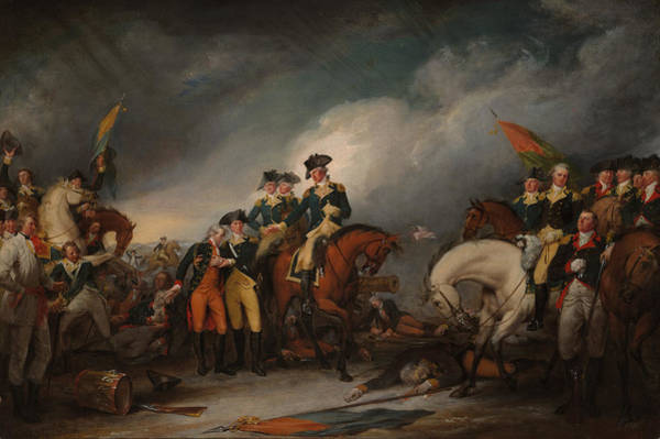 Wall Art - Painting - Capture Of The Hessians At Trenton - December 26, 1776 - John Trumbull  by War Is Hell Store