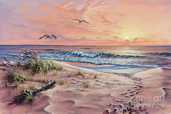 Sea Oats Painting - Captured In The Morning Light by Joe Mandrick