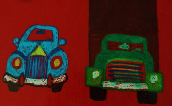 Wall Art - Drawing - Car And Truck by Christy Saunders Church