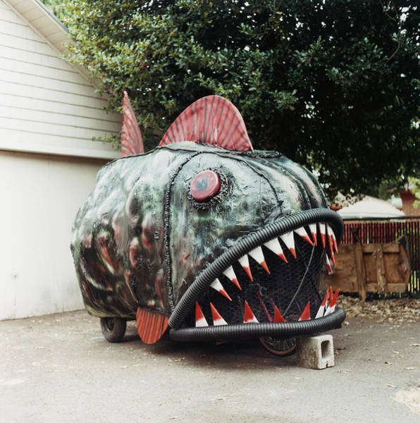 Customized Photograph - Car In Form Of Piranha by Charles Gullung