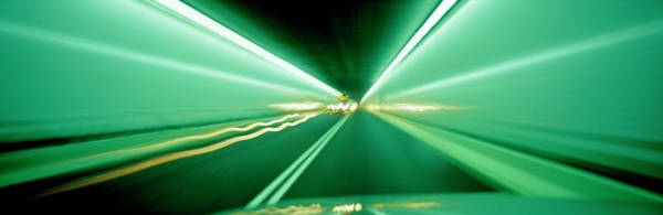 Wall Art - Photograph - Car Moving In A Tunnel by Panoramic Images