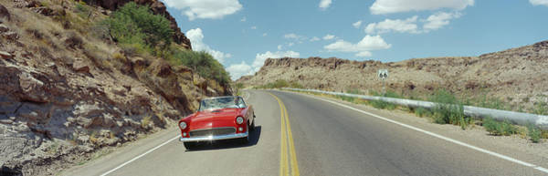 Wall Art - Photograph - Car On A Highway, Route 66, Kingman by Panoramic Images