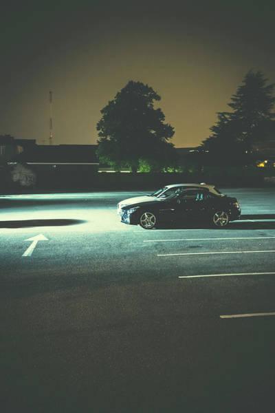 Wall Art - Photograph - Car Park At Night 01 by Richard Nixon