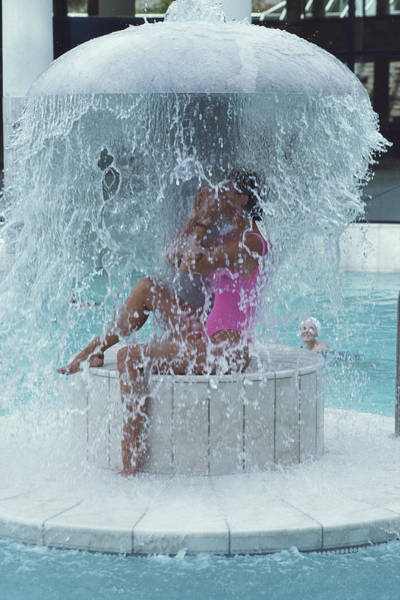 Swimming Photograph - Caracalla Therme by Slim Aarons