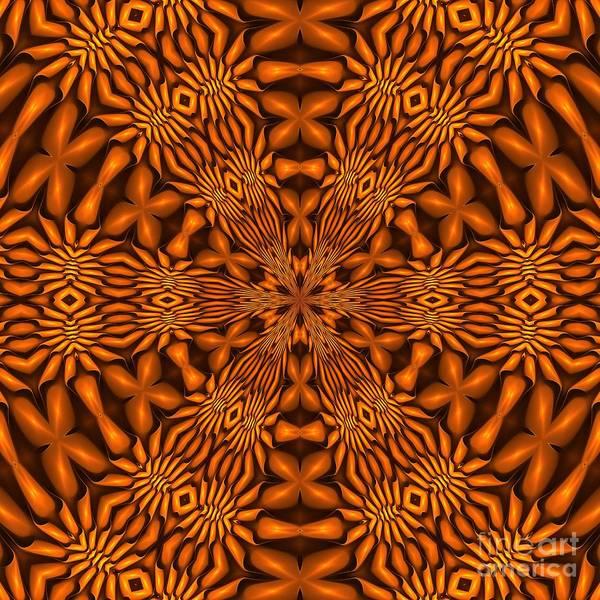 Digital Art - Fractal Schnitzel-7 Caramel Hex by Doug Morgan