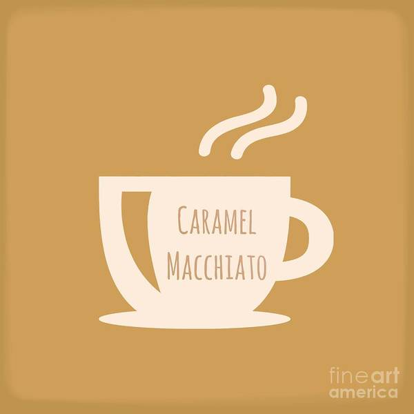 Digital Art - Caramel Macchiato  by Rachel Hannah