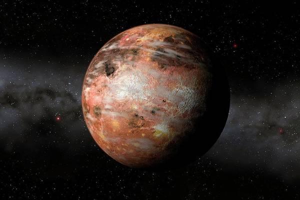 Space Exploration Digital Art - Carbon Planet, Artwork by Mark Garlick