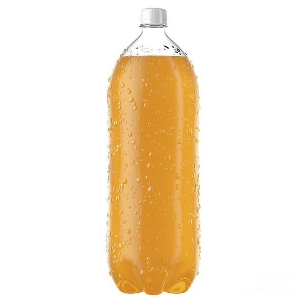 Wall Art - Digital Art - Carbonated Orange Soft Drink Plastic Bottle by Allan Swart