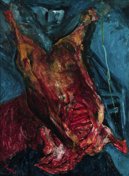 Wall Art - Painting - Carcass Of Beef, 1925 by Chaim Soutine