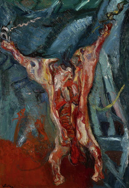 Wall Art - Painting - Carcass Of Beef by Chaim Soutine