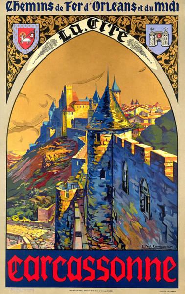 Wall Art - Digital Art - Carcassonne by Long Shot