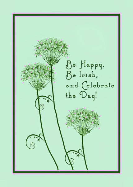 Drawing - Card For St. Patrick's Day by Rosalie Scanlon