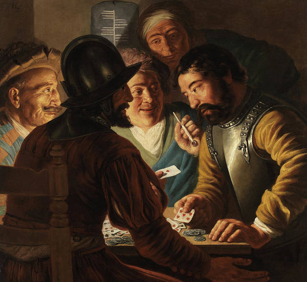 Wall Art - Painting - Card Players by Jan Lievens