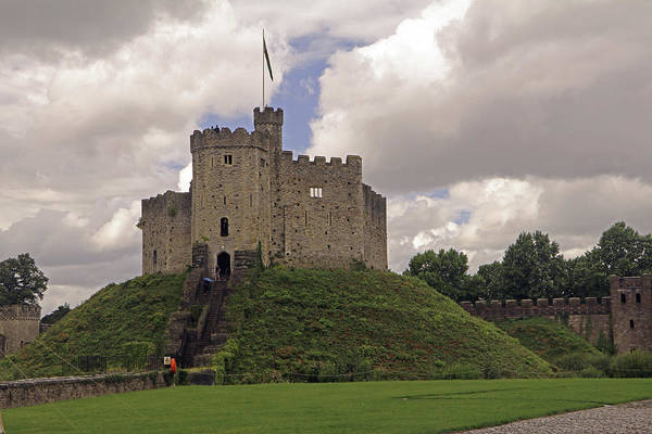 Photograph - Cardiff Castle Keep by Tony Murtagh