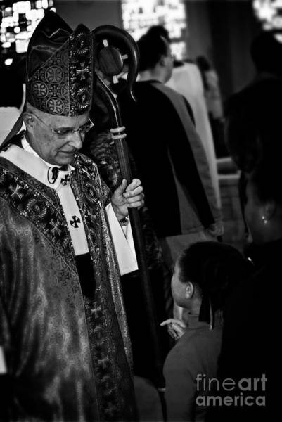 Photograph - Cardinal Francis George Listens by Frank J Casella