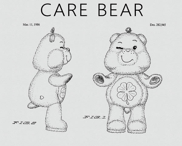 Drawing - Care Bear Patent by Dan Sproul