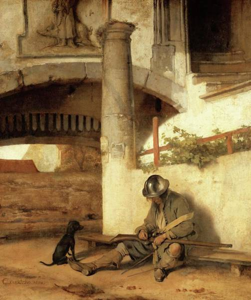 Gateway Arch Painting - Carel Fabritius The Gate Guard/the Sentry, 1654. Painting. Oil On Canvas. by Carel Fabritius