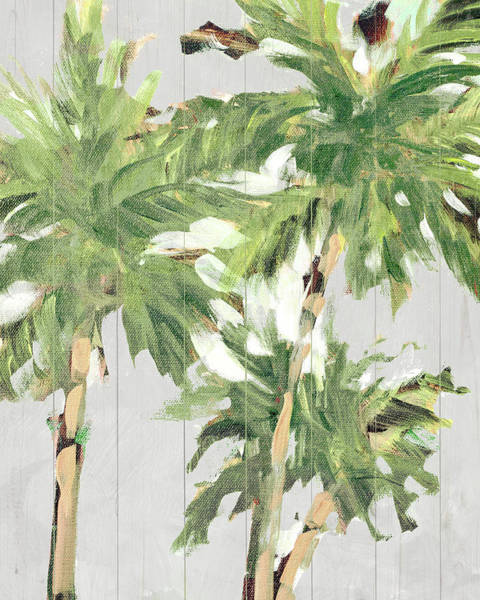 Wall Art - Painting - Caribbean Palm Trees by Jane Slivka