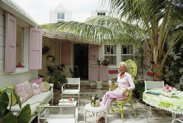 Patio Photograph - Caribbean Patio by Slim Aarons