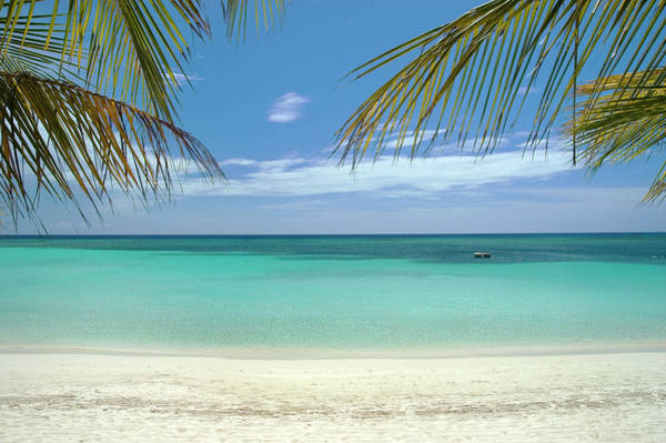 Caribbean Photograph - Caribbean Sea And White Sand Beach by Digi guru
