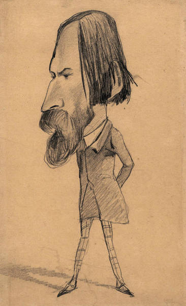 Wall Art - Drawing - Caricature Of Auguste Vacquerie by Claude Monet