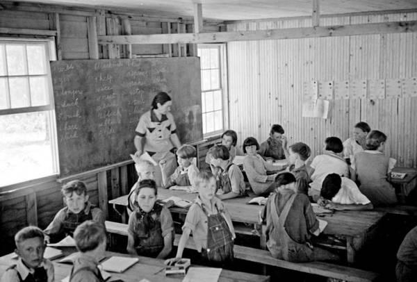 Utility Painting - Carl Mydans   School At Skyline Farms  Near Scottsboro Alabama 1936 by Celestial Images
