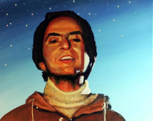 Cosmos Painting - Carl Sagan Cosmos by Simon Kregar