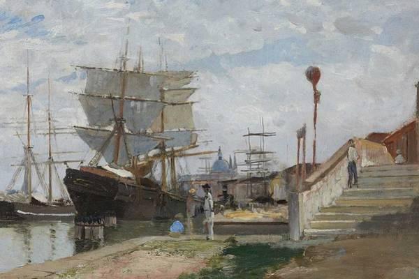 Wall Art - Painting - Carl Skanberg 1850-1883 Venice Port 2 by Carl Skanberg