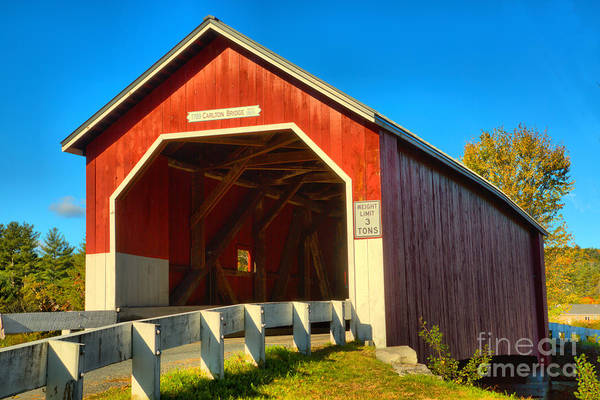 Photograph - Carleton Road East Covered Bridge by Adam Jewell