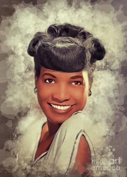 Wall Art - Painting - Carline Ray, Music Legend by John Springfield