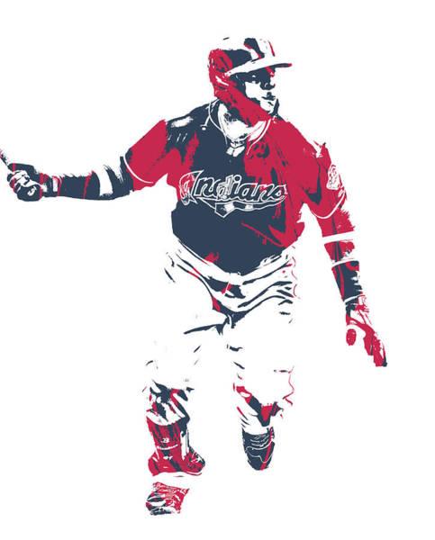 Wall Art - Mixed Media - Carlos Santana Cleveland Indians Pixel Art 1 by Joe Hamilton