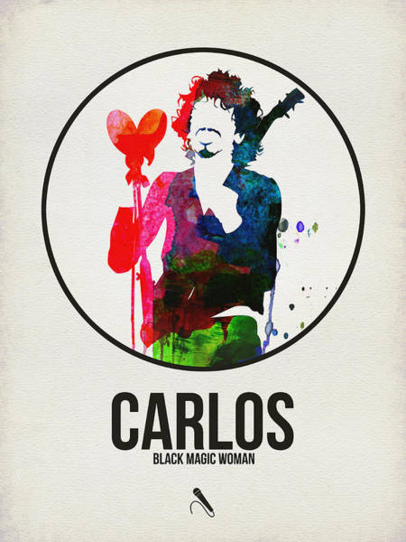 Hard Rock Wall Art - Digital Art - Carlos Santana II by Naxart Studio