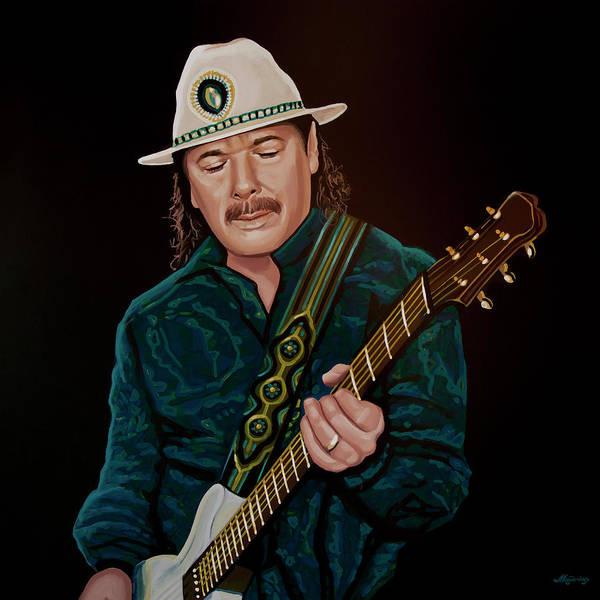 Painting - Carlos Santana Painting by Paul Meijering