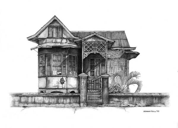 Trinidad Drawing - Carlos Street House by Donna Tull