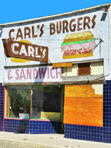 Wall Art - Photograph - Carl's Burgers by Dominic Piperata