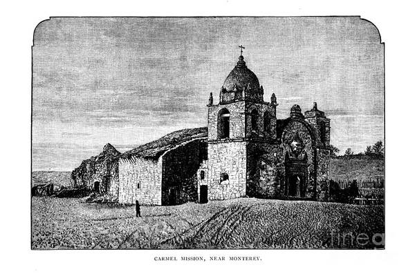Photograph - Carmel Mission  Circa 1880 by California Views Archives Mr Pat Hathaway Archives