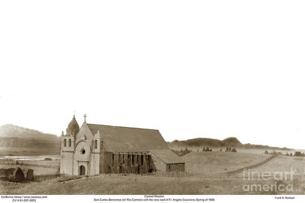 Photograph - Carmel Mission Circa 1884 by California Views Archives Mr Pat Hathaway Archives