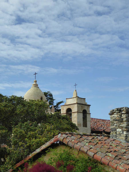 Carmel By The Sea Photograph - Carmel Mission Rooftops  by Gordon Beck