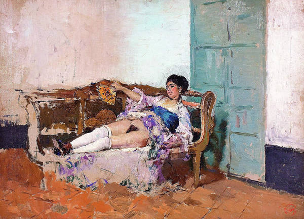 Wall Art - Painting - Carmen Bastian - Digital Remastered Edition by Mariano Fortuny