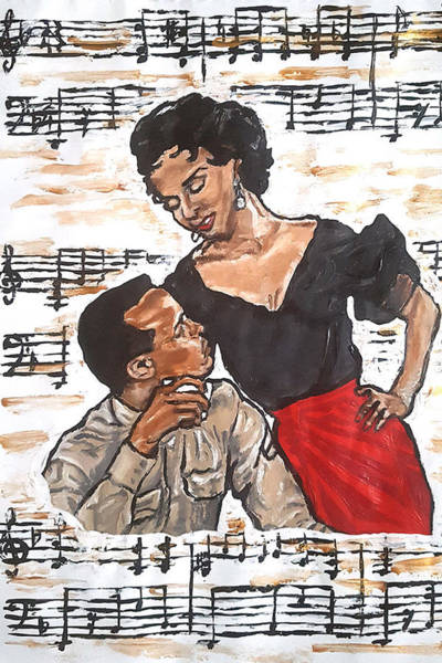 Painting - Carmen Jones - That's Love by Rachel Natalie Rawlins