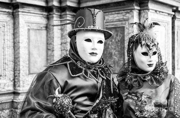 Wall Art - Photograph - Carnival Couple In Venice by John Rizzuto
